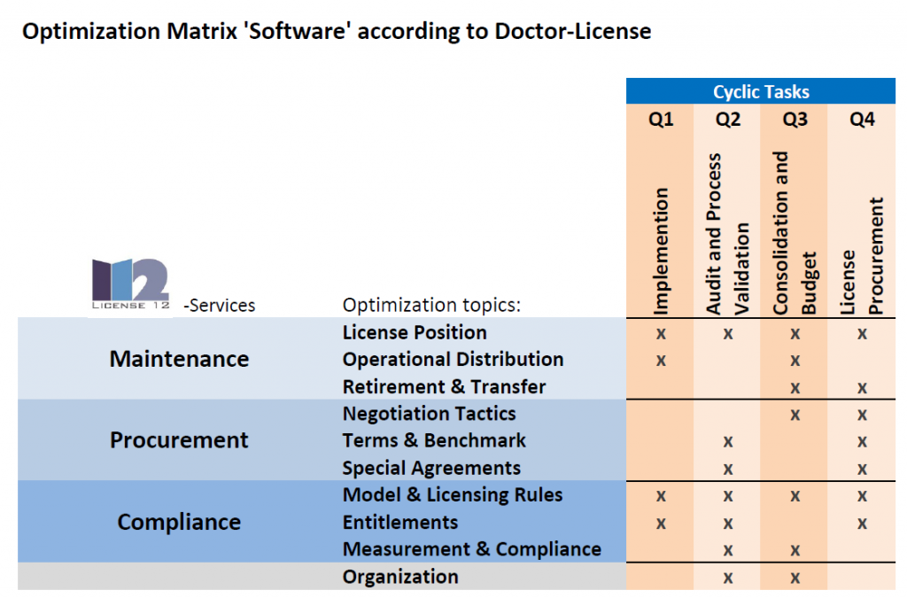 Optimization Cycles in Software License Management