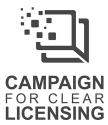 Symbol der Kampagne für Lizenztransparenz der Barium Manifesto Ldt. in UK